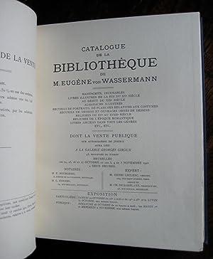 Catalogue de la bibliothèque de M. Eugène von Wassermann  manuscrits,  incunables, livres e87a85ad3a9f