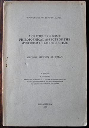 A Critique of Some Philosophical Aspects of: George Mervin Alleman