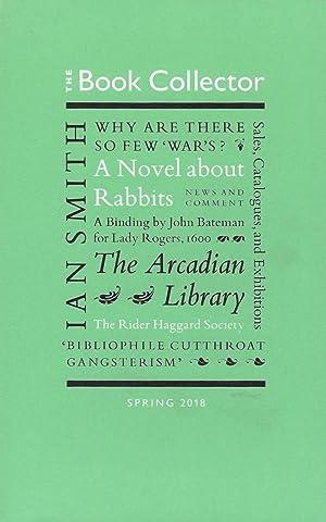 The Book Collector Vol. 67 no. 1,
