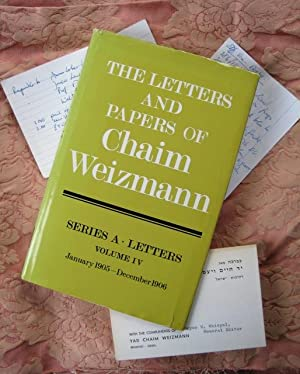 The Letters and Papers of Chaim Weizmann.: WEIZMANN (Chaim)