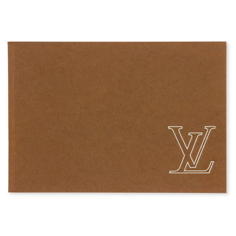 Louis Vuitton : malletier à Paris LOUIS VUITTON Softcover Paris : Louis Vuitton, [circa 1980]. Oblong octavo, stiff brown wrappers with the Louis Vuitton monogram to front, pp 41, with monochrome illustration