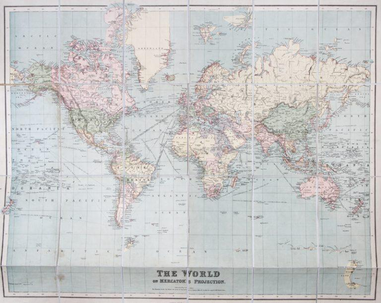 Authentic World Map.Philips Authentic Map Of The World On Mercator S Projection By