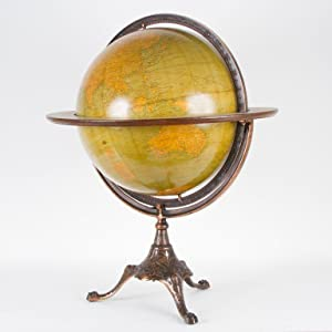 An 18 inch table globe: Weber and Costello