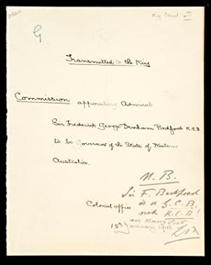 WESTERN AUSTRALIA] Manuscript letter to King Edward