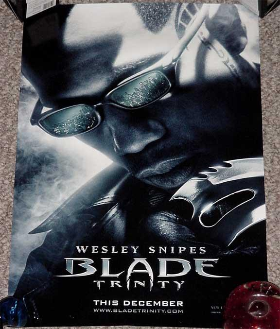 Blade Trinity Poster Wesley Snipes 11x17 Action Advent Ex 2004 Photograph Dta Collectibles