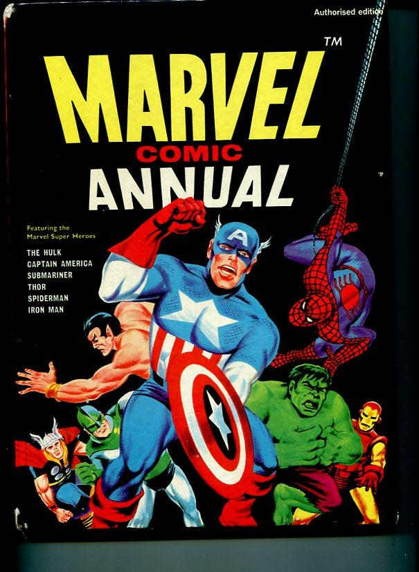 MARVEL COMIC ANNUAL-1969-SPIDER-MAN-HULK-SUBMARINER-THOR IRON MAN-AVENGERS-vg VG