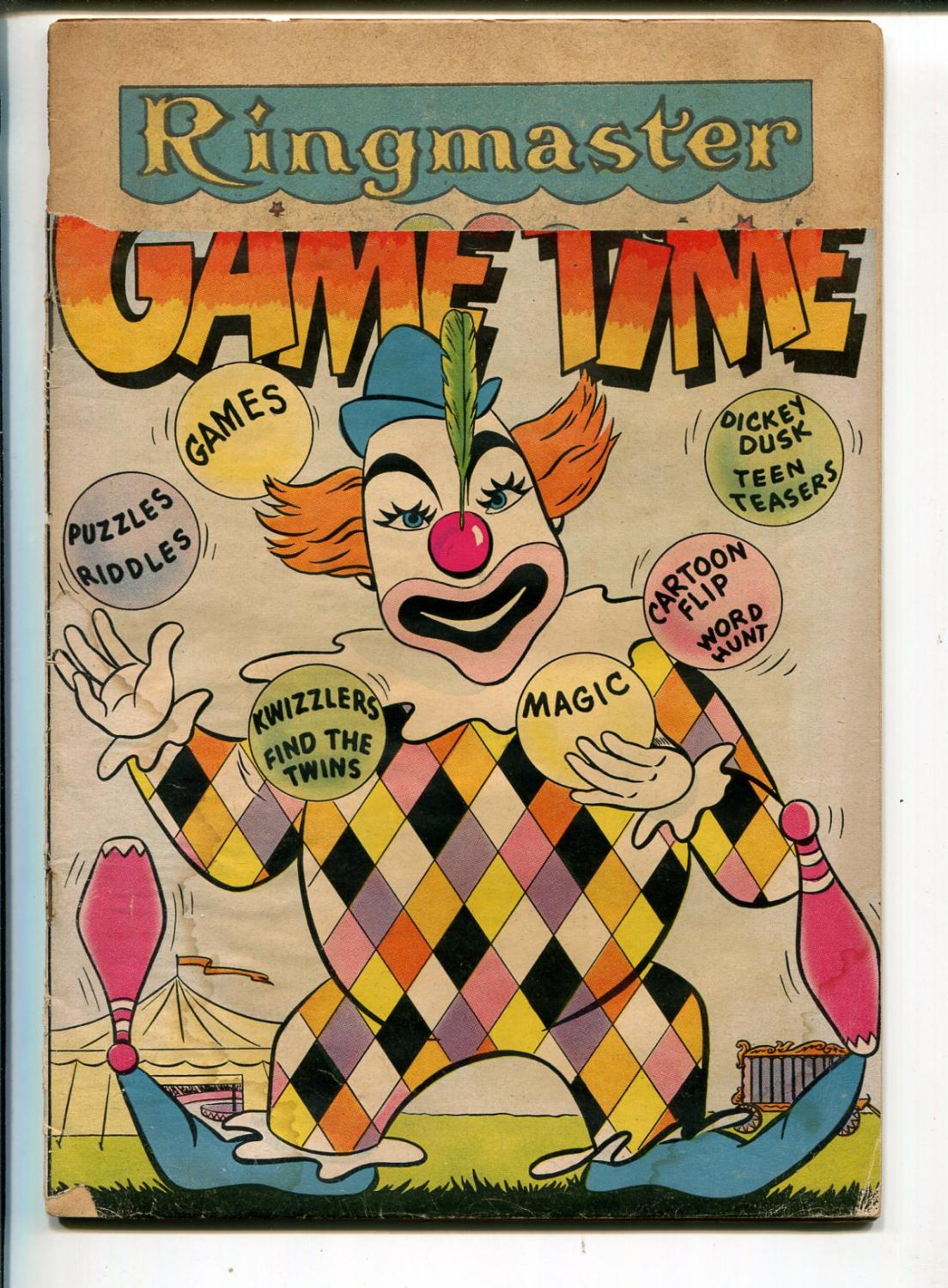 It's Game Time #3 1956-DC-puzzles-games-connect the dots-distributor return-FR Fair