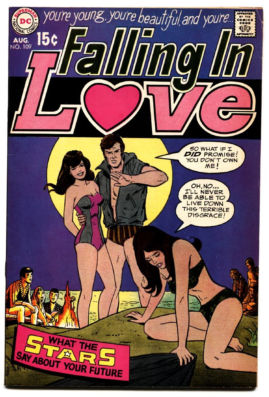 FALLING_IN_LOVE_#109_high-grade_1969-DC_ROMANCE_COMICS-SWIM_SUIT___[As_New]