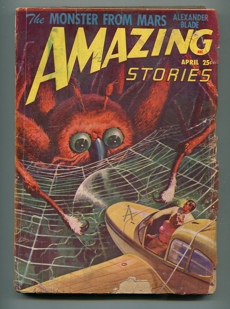 AMAZING STORIES PULP APRIL 1948-ALEXANDER BLADE-ALLEN ST. JOHN-G Good