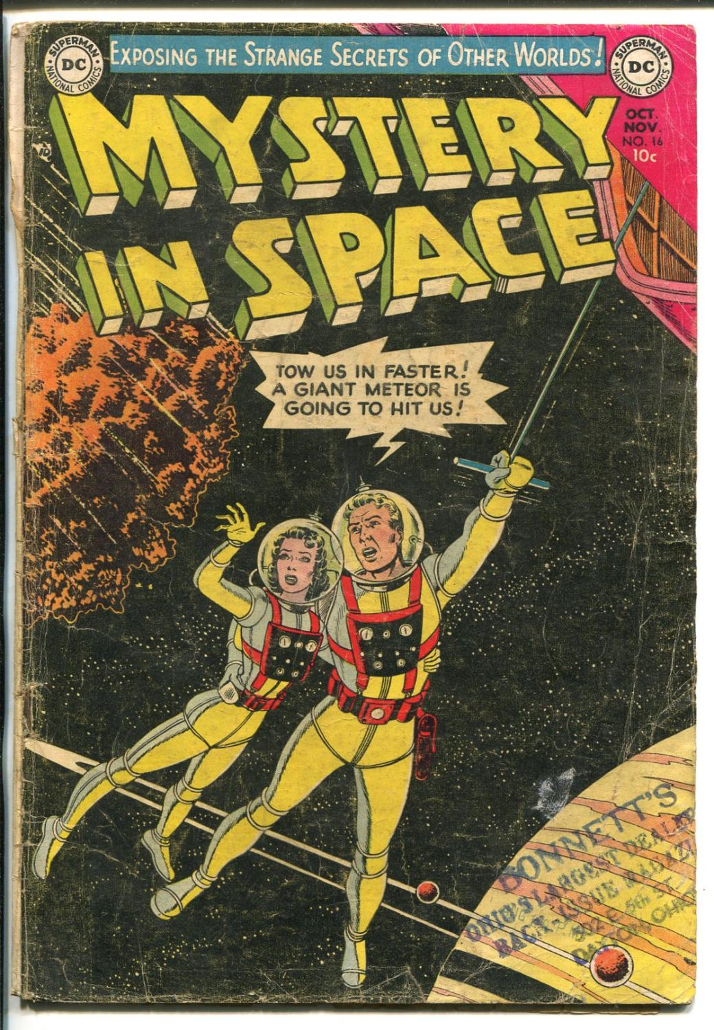 MYSTERY IN SPACE #16-1953-DC-SCI-FI-GIL KANE ART-good+ Good