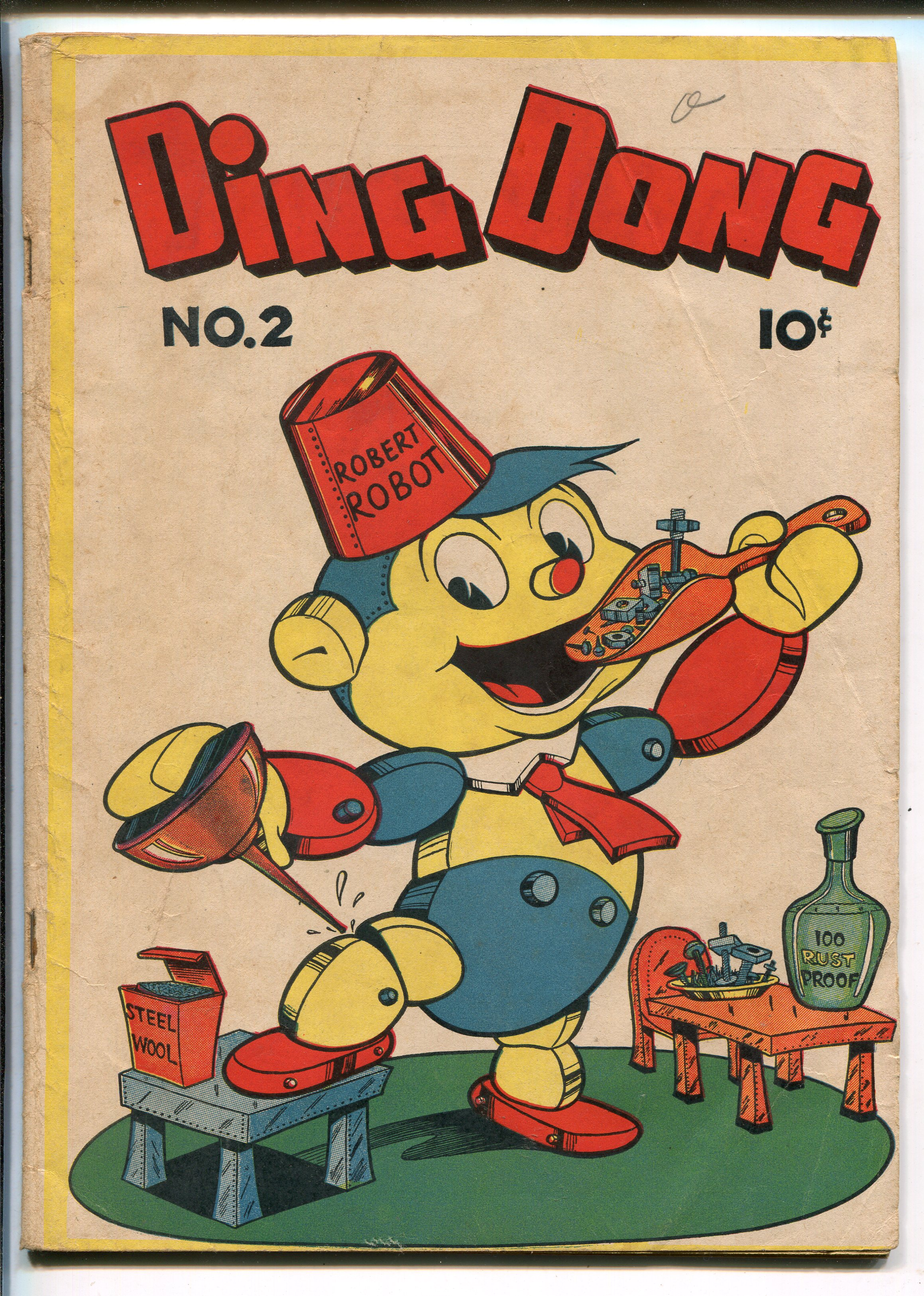 DING DONG #2 1946-ME-ROBOT COVER-vg+ Very Good