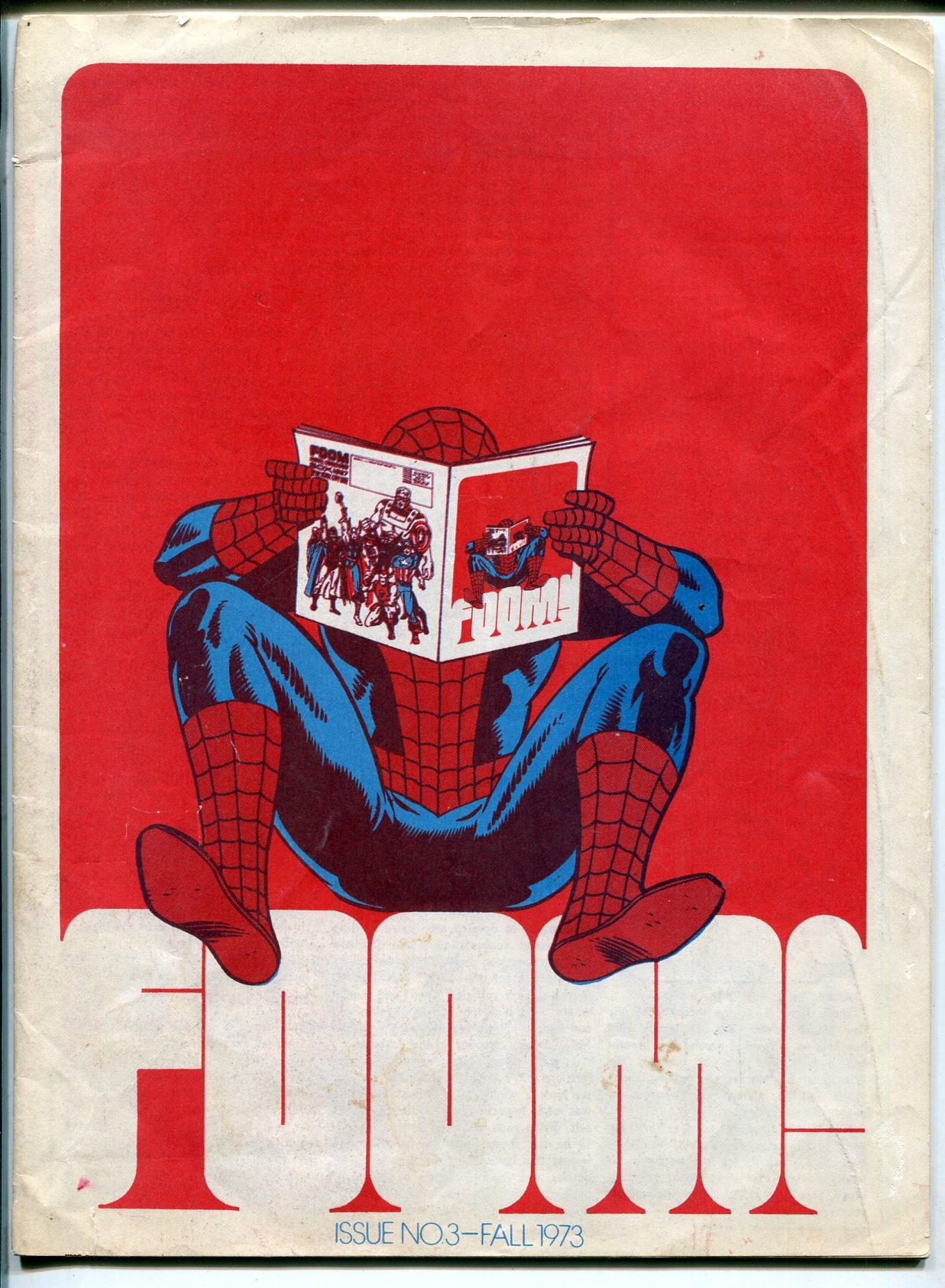 FOOM 1973-early Marvel Comics fanzine-Spider-man infinity cover-Bull Pen Pros-VG Very Good