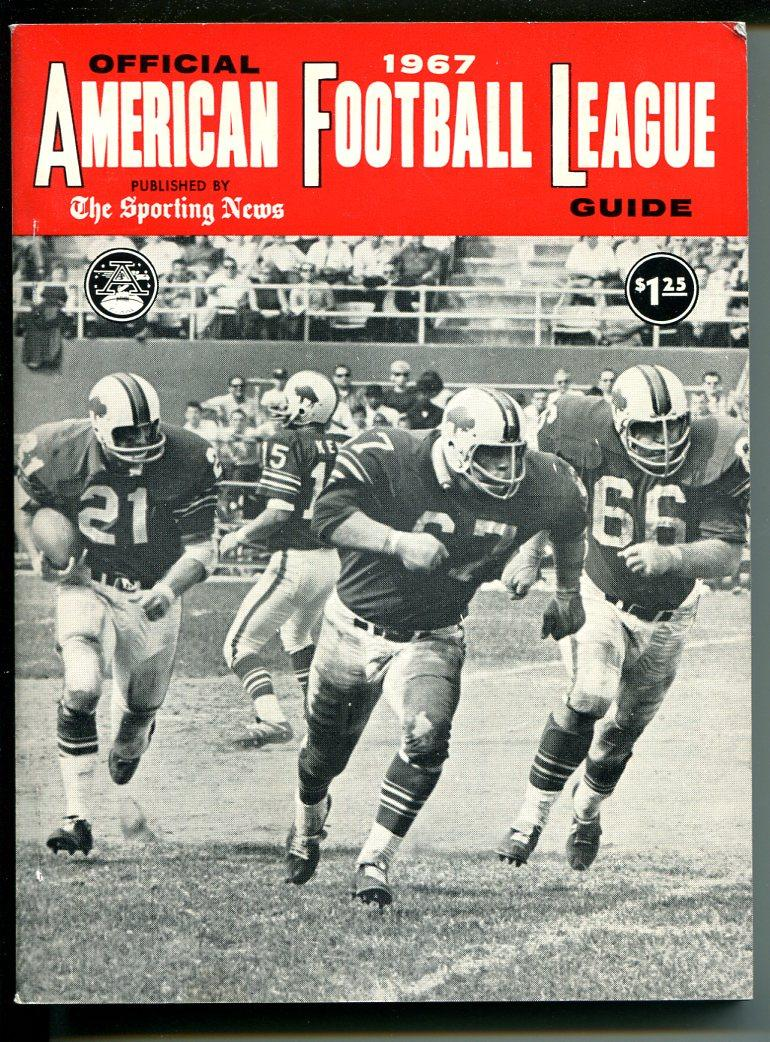 American Football League-AFL-Media Guide 1967-Dolphins-Patriots-Bills-Oilers-VF As New