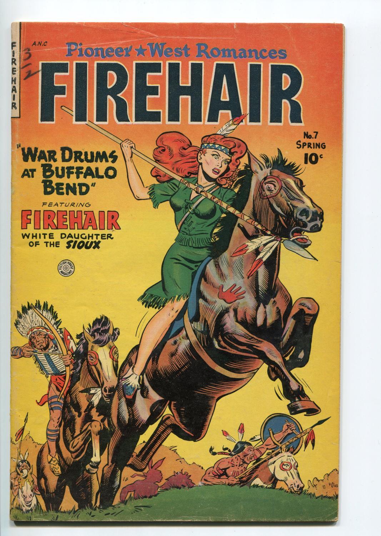 FIREHAIR #7-1951-FICTION HOUSE-INDIAN GIRL STORIES-SPICY GOOD GIRL ART-vg+ Very Good