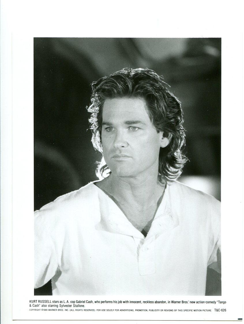 8x10-Promo-Still-Tango & Cash-Kurt Russell-Action-Crime-Comedy-NM-1989 Fine