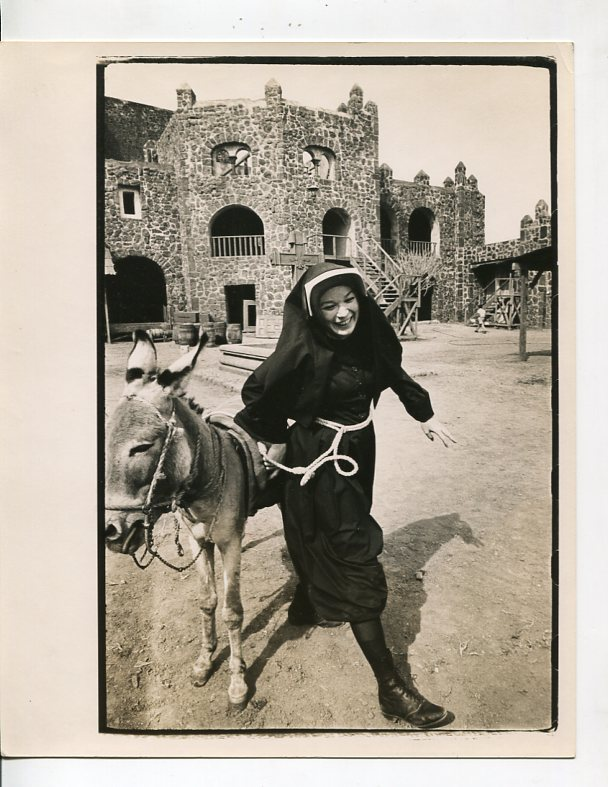 Two Mules for Sister Sara-Shirley MacLaine-8x10-B&W-Still-Adventure Fine