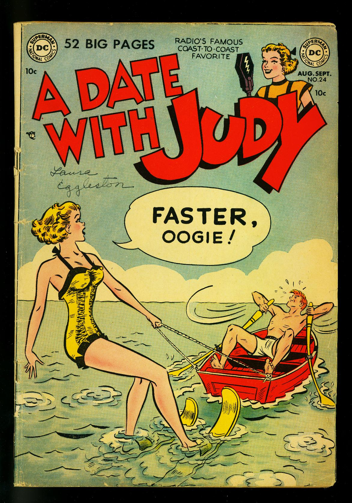 Date_with_Judy_#24_1951-_water_skiing_cover-_DC_Humor-_VG___[Very_Good]