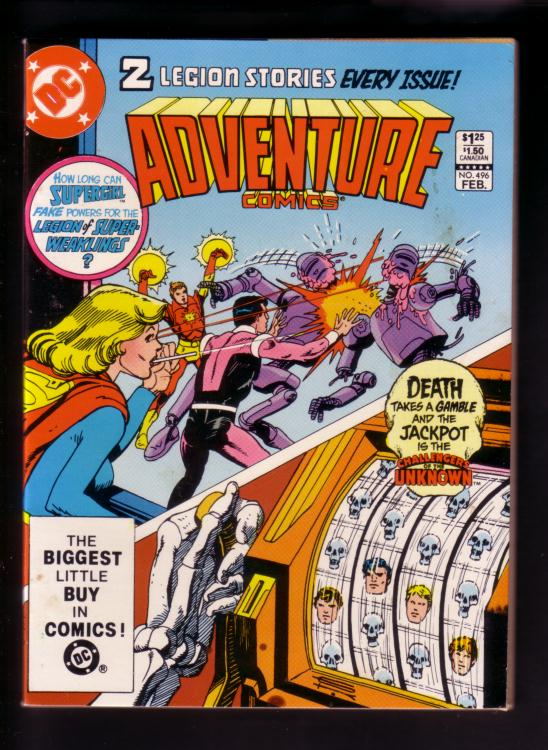 Legion Of Super Heroes 295 1983 Keith Giffen Larry: ADVENTURE COMICS #496 1983--LEGION SUPER-HEROES SPECTRE VF