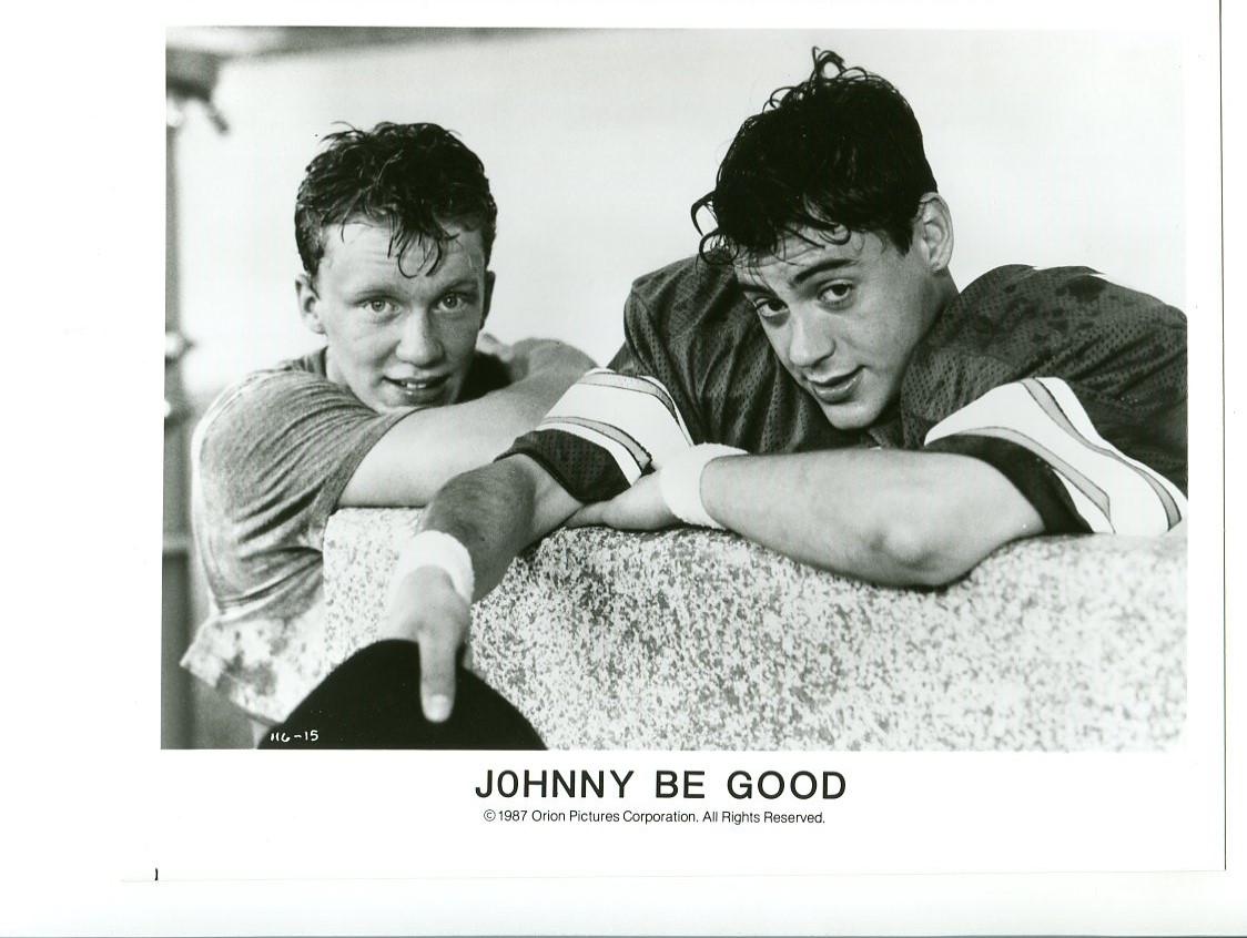 8x10-Promo-Still-Johnny Be Good-Anthony Micheal Hall-Uma Thurman-NM-Comedy Fine