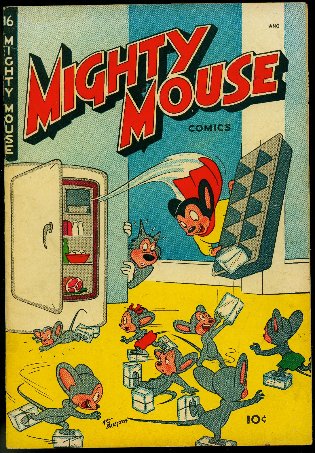 Mighty Mouse #16 1950- St John Golden Age- Funny Refrigerator cover VG Very Good Mice raid refrigerator cover. Comic is complete, no restoration. Condition: VG