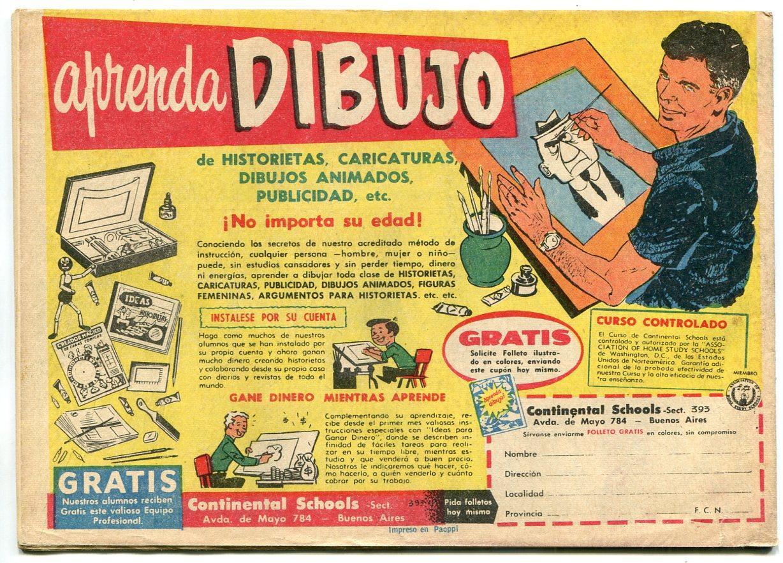 Misterix 601 1960 Mexican Comic Book Sci Fi Western Fn Dta
