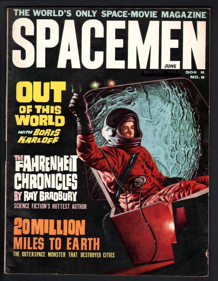 SPACEMEN #8-1964-WARREN-20 MILLION MILES TO EARTH-PIX & INFO-HORROR S-F M FN Fine