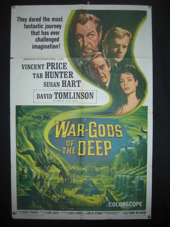 WAR-GODS OF THE DEEP-TAB HUNTER-27X41-ORIG POSTER-1965 VG Very Good