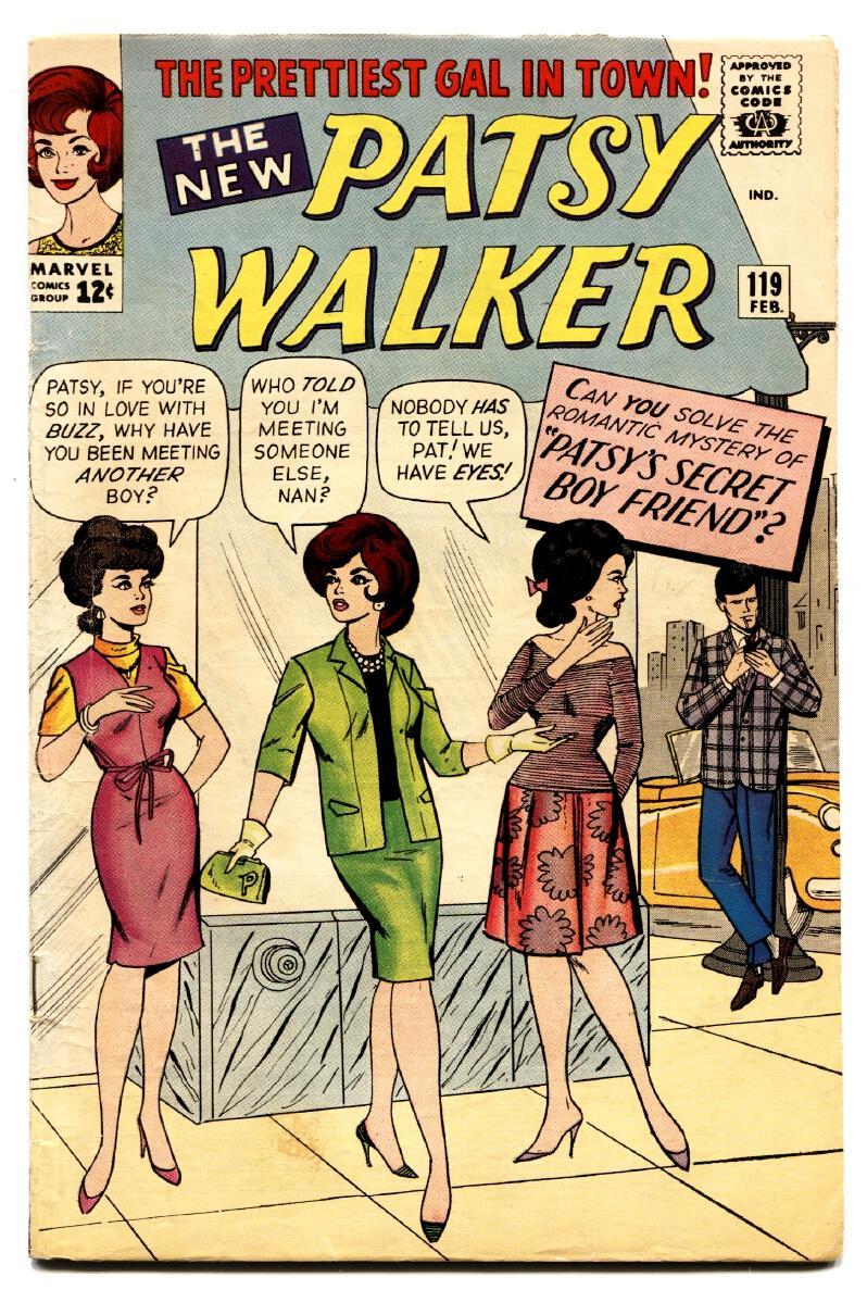Patsy Walker #119 1965- Paper Dolls- Marvel Silver Age- Lingerie panels Fine Paper dolls. Lingerie panels. Condition: FN