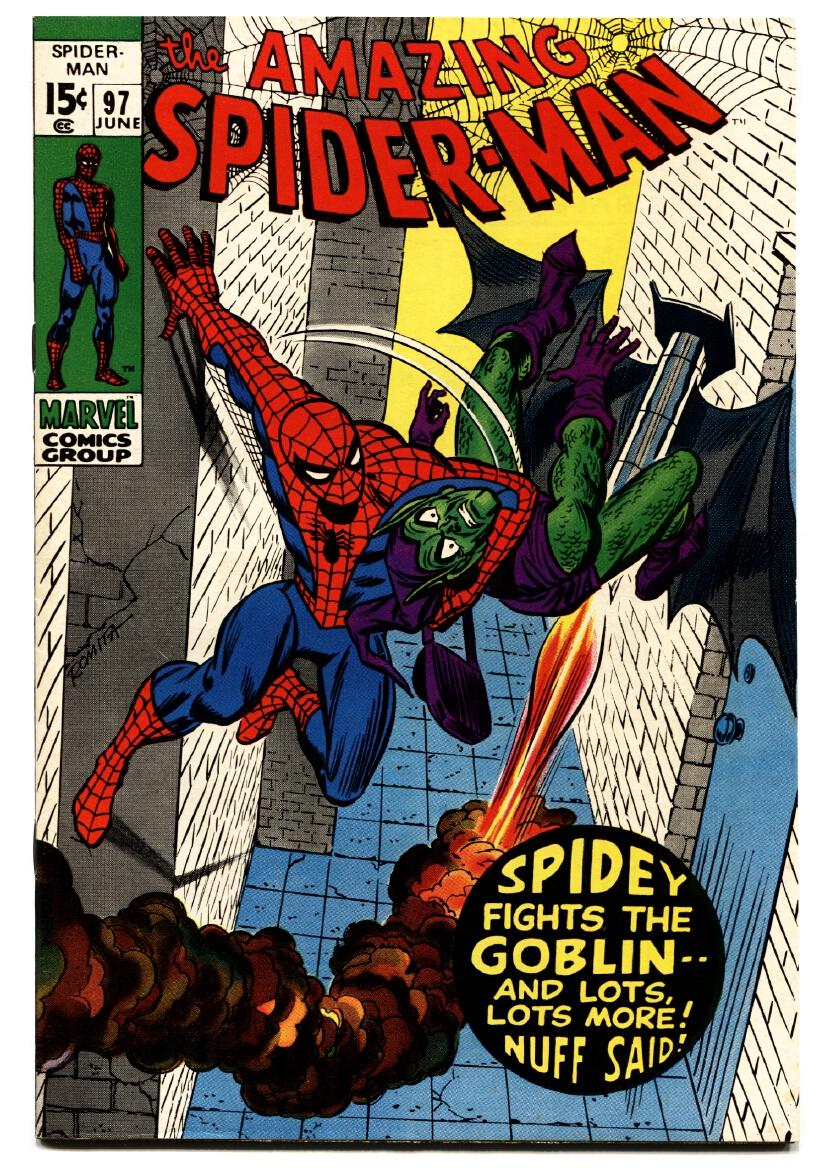AMAZING SPIDER-MAN #97 comic book 1971-GREEN GOBLIN-MARVEL-Drug issue As New