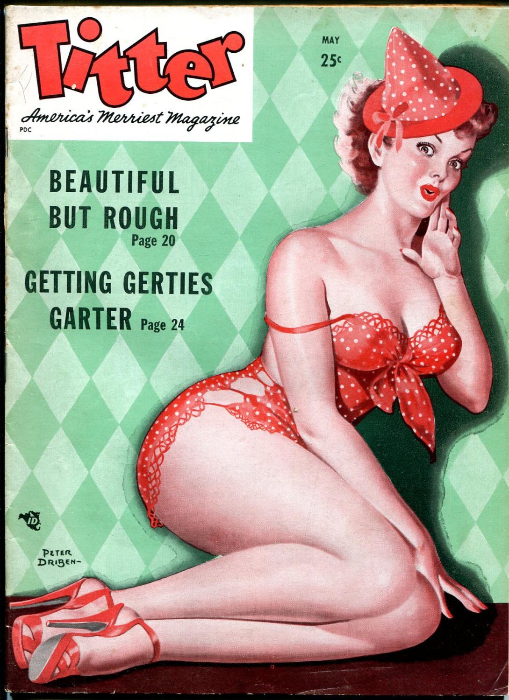 Titter 5/1949-Peter Driben-cheesecake-stockings-girl fights-lingerie-VG Very Good