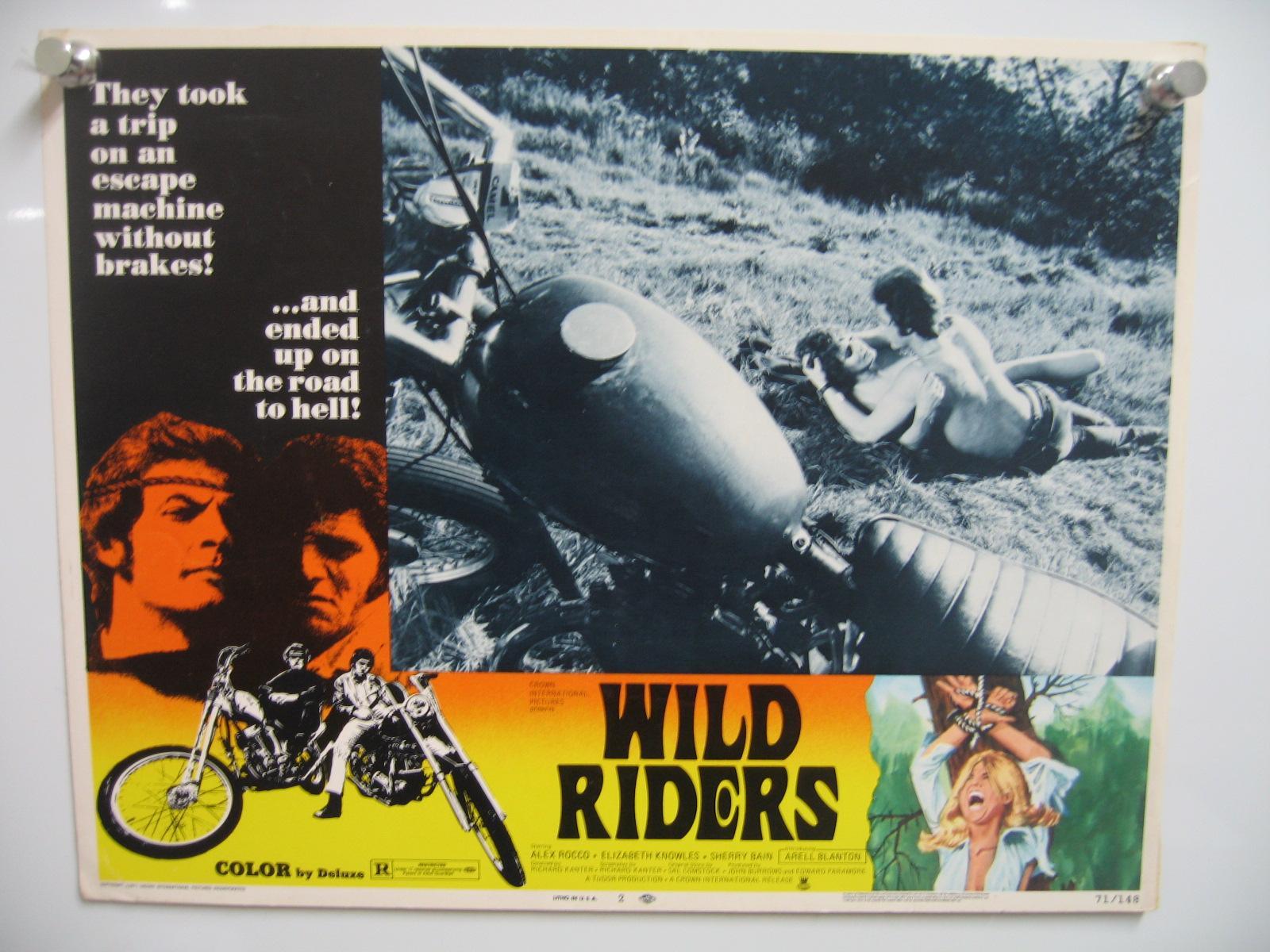 WILD RIDERS-#2-1971-ROMANCE SCENE NEXT TO MOTORCYCLE VG Very Good