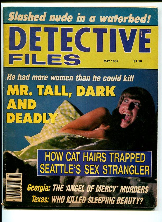 DETECTIVE FILES-1987-MAY-WOMAN TERRIFIED IN BED COVER VG Very Good