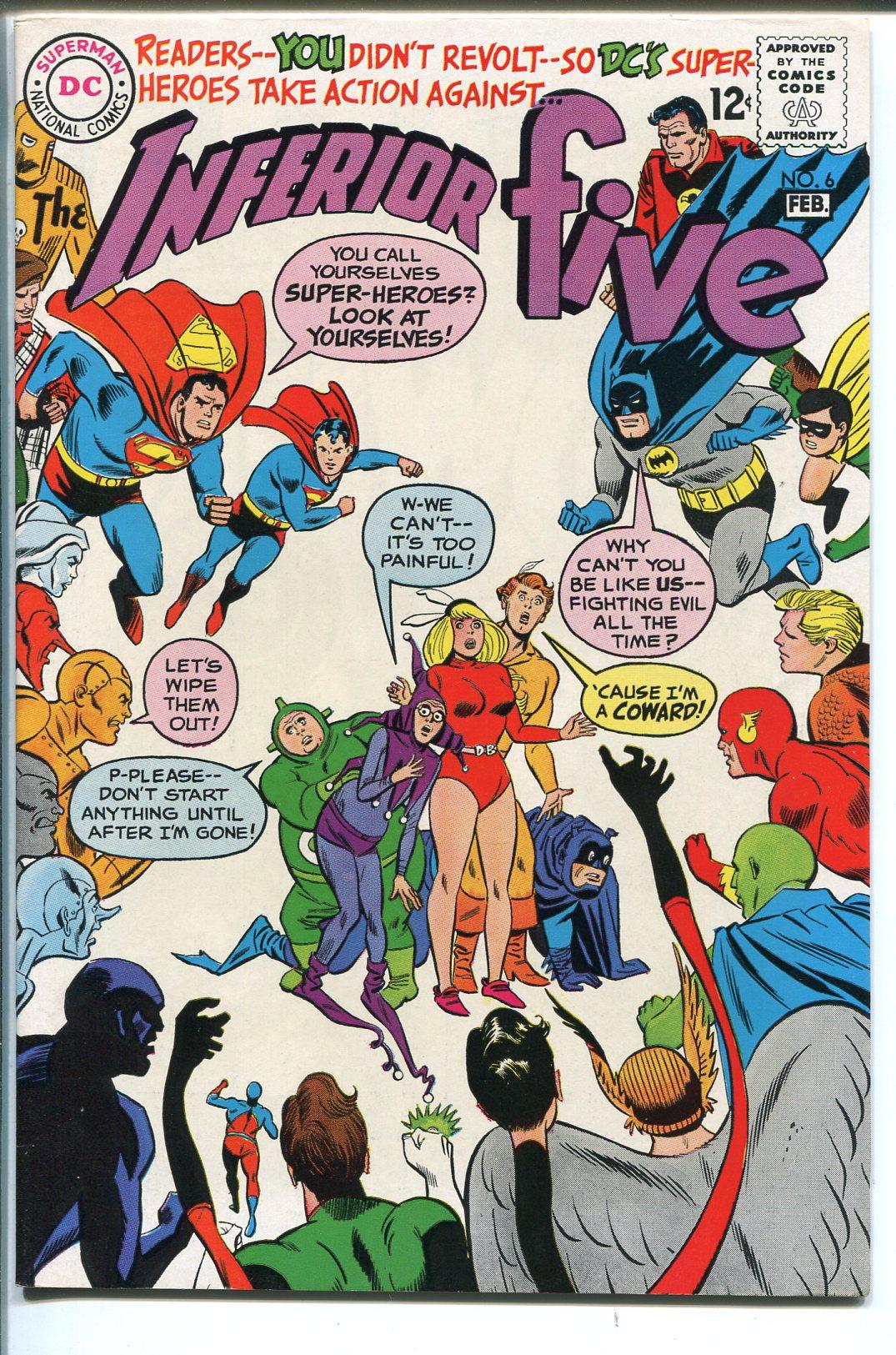 INFERIOR FIVE #6 198-DC COMICS-BATMAN-SUPERMAN-ATOM-FLASH-DC STAFF-nm New
