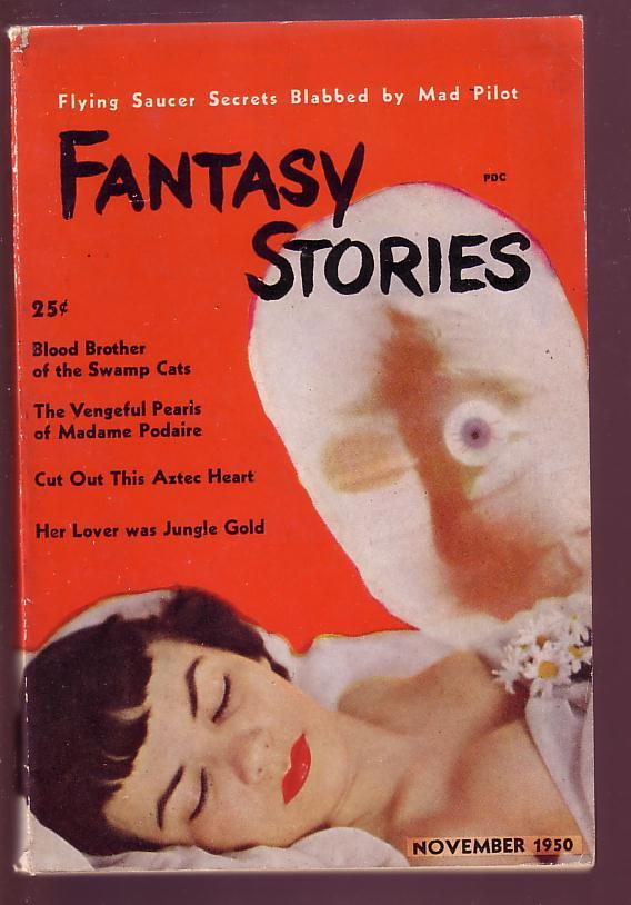 FANTASY STORIES 1950 NOV #1 -MUMMY-SLEEPING NUDE WOMAN FN Fine
