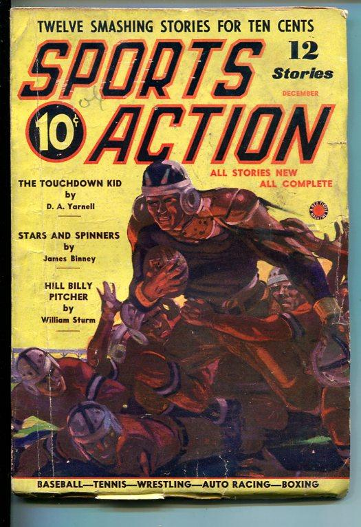 SPORTS ACTION-#1-DEC 1937-PULP FICTION-SOUTHERN STATES PEDIGREE-vg Very Good