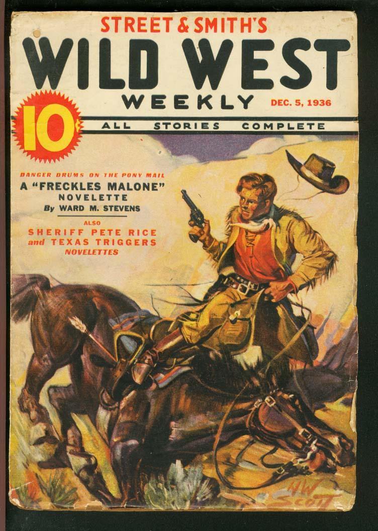 WILD WEST WEEKLY 1936 DEC 5-STREET AND SMITH-PETE RICE VG Very Good