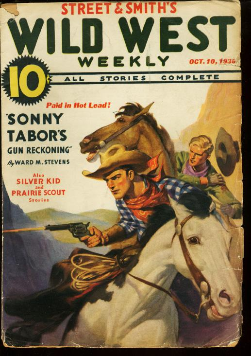 WILD WEST WEEKLY OCT 10 1936 SONNY TABOR SILVER KID VG Very Good