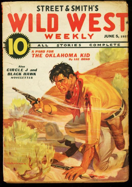 WILD WEST WEEKLY JUNE 5 1937 OKLAHOMA KID PULP VG Very Good