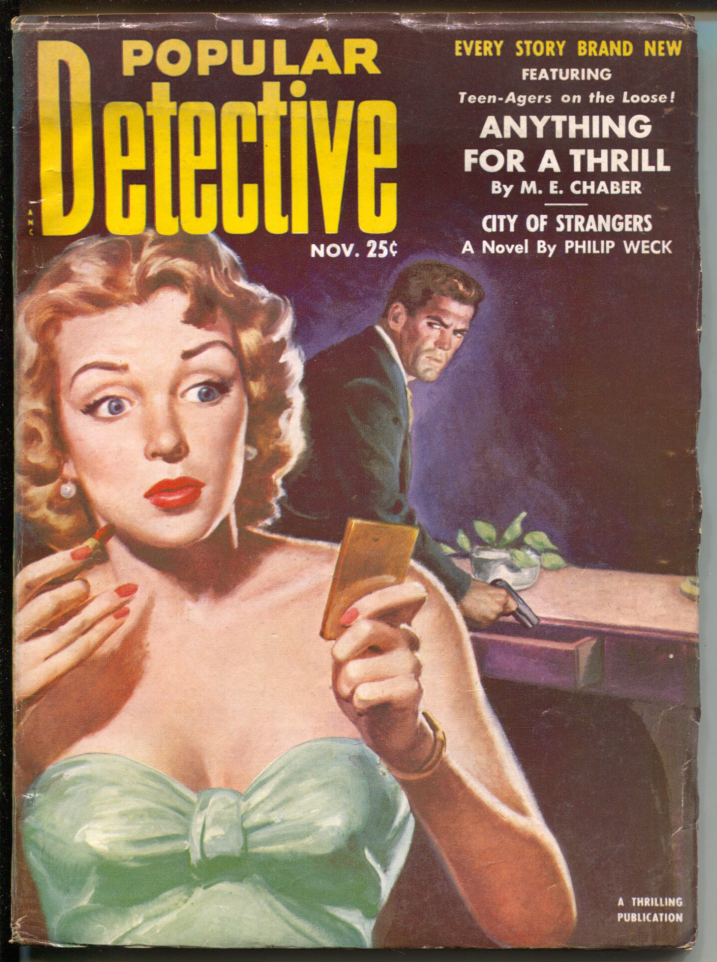 Popular Detective 11/1952-Thrilling-hardboiled crime pulp-bondage ...