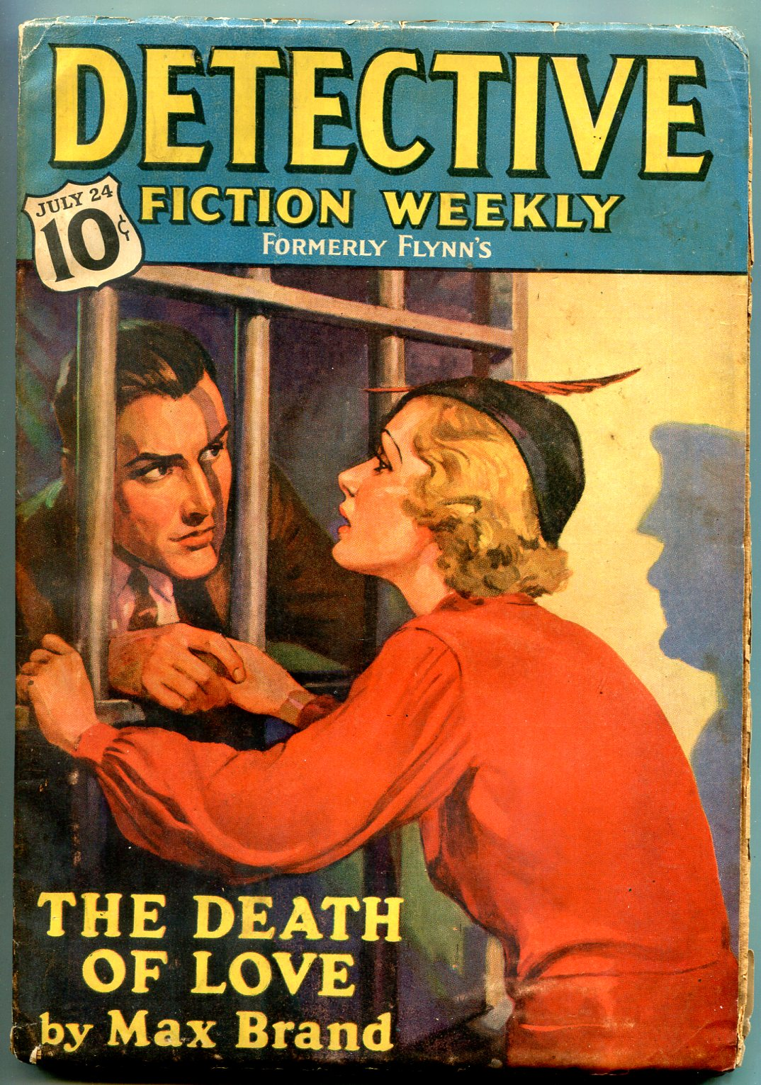 Detective Fiction Weekly Pulp July 24 1937- Max Brand- Ray Cummings VG Very Good