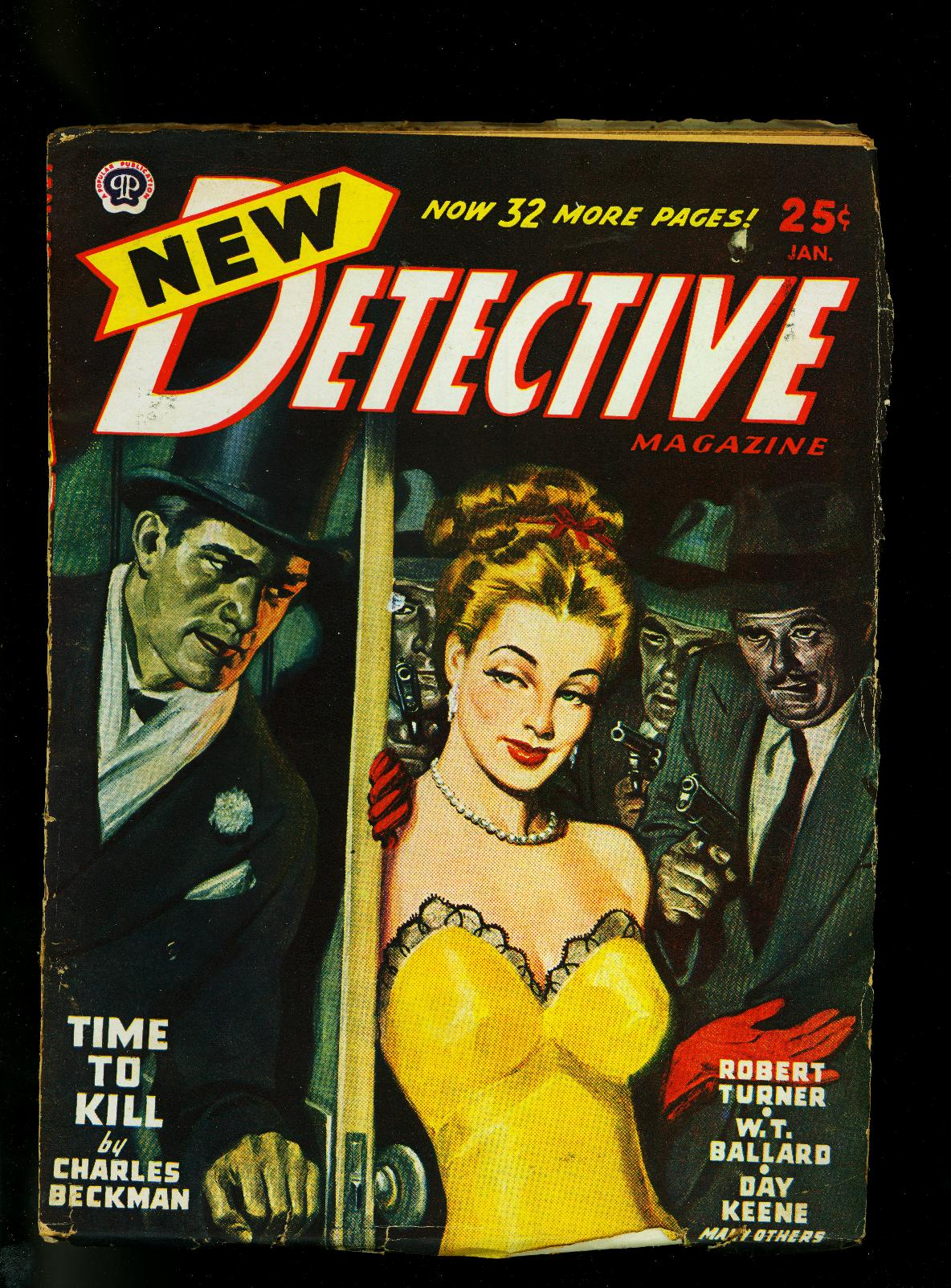 New Detective Pulp January 1947- Gun Moll Cover- Crime Fiction- VG/FN Very Good