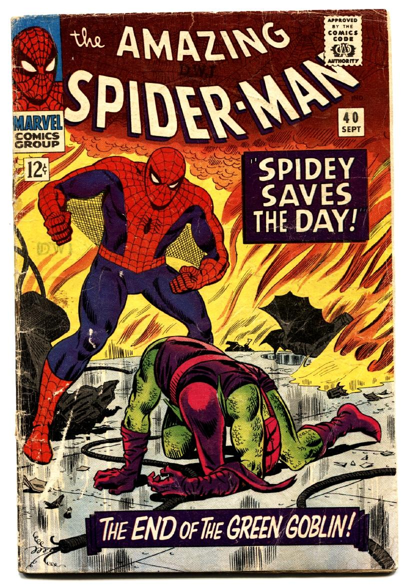 AMAZING SPIDER-MAN #40 comic book 1966-Death of the Green Goblin Good
