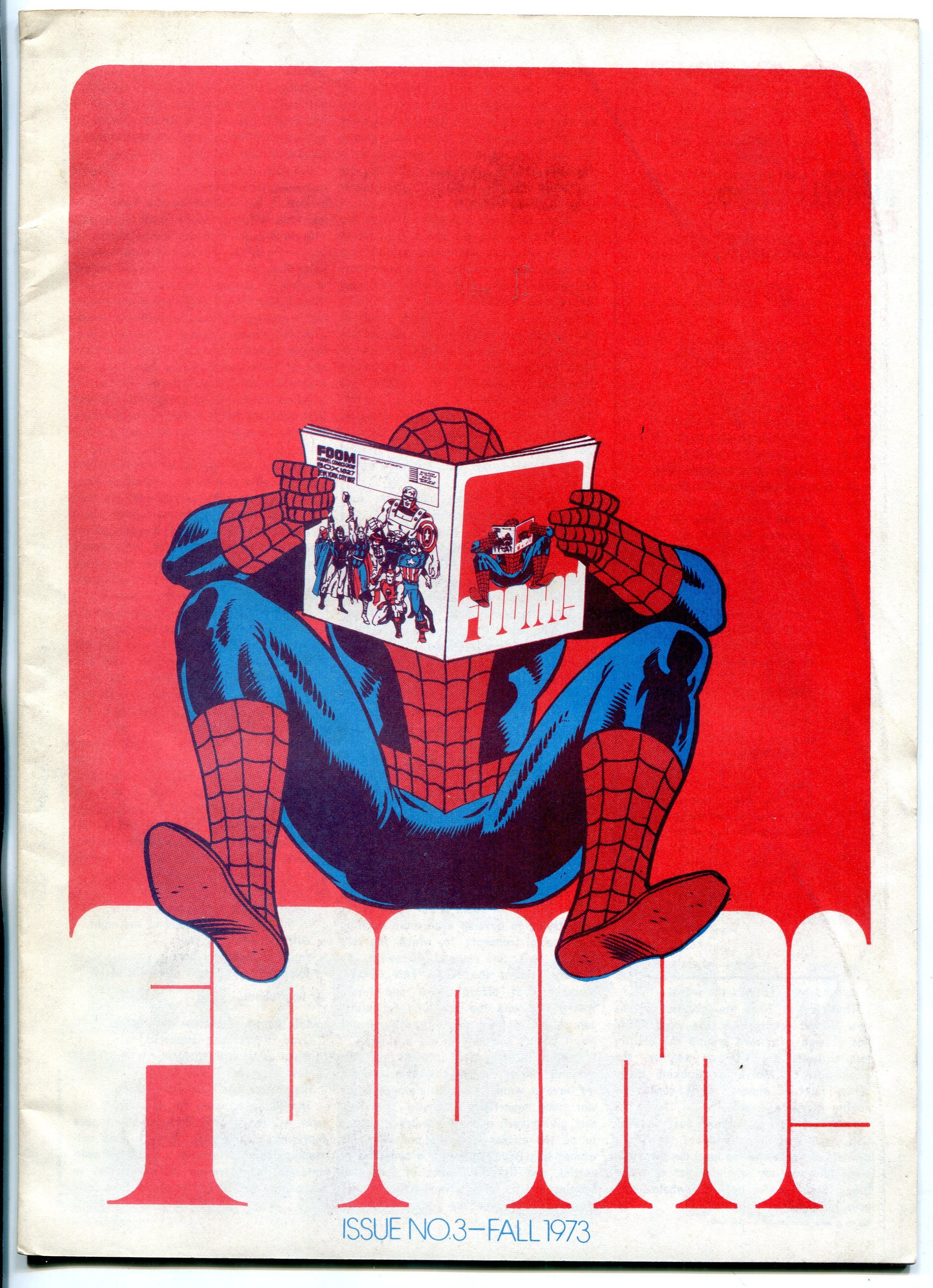 FOOM fanzine #3 1974- infinity cover- spider-man marvel comics FN Fine
