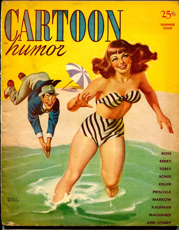 Cartoon_Humor-Summer_1947-Earl_bergey-swim_suit_cover-Machamer-Bill_Wenzel-VG___[Very_Good]