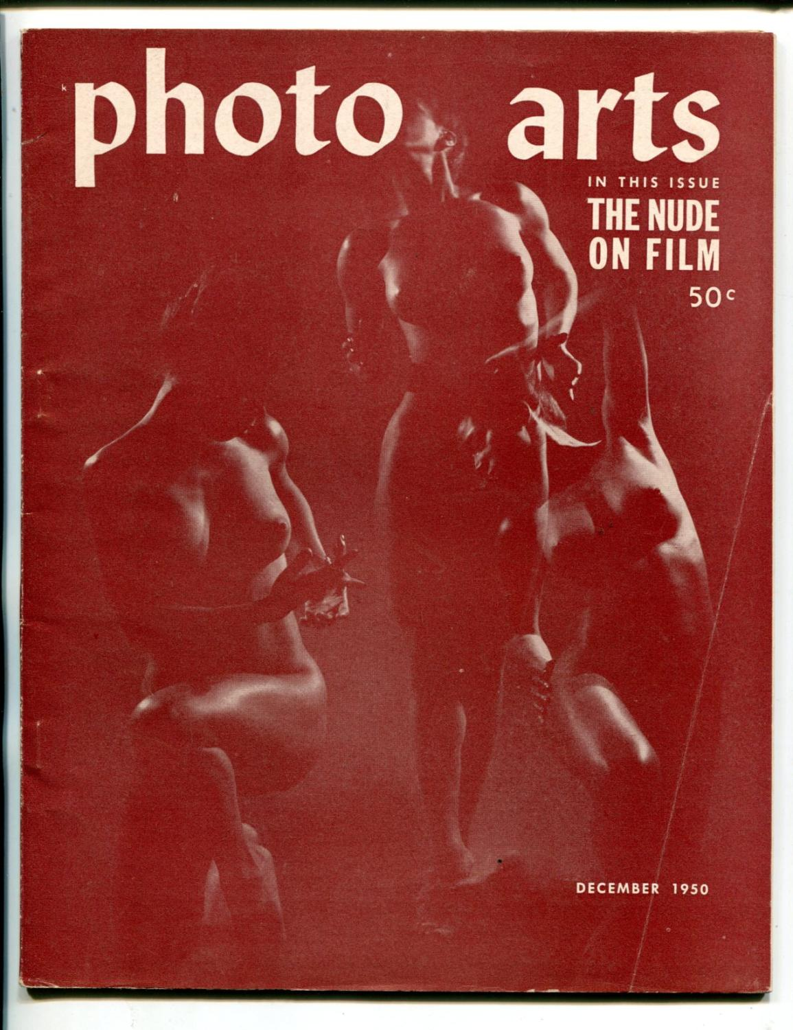PHOTO ARTS #1-12/1950-NUDE ON FILM-CHEESECAKE-CAMERAS-SOUTHERN STATES-fn minus Fine