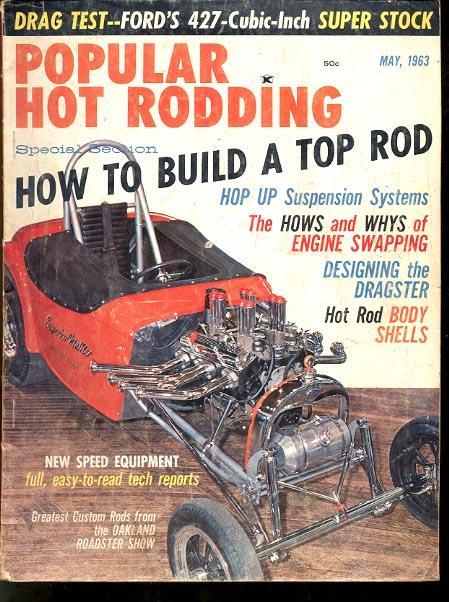 POPULAR HOT RODDING-5/1963-DRAG RACING MAG G