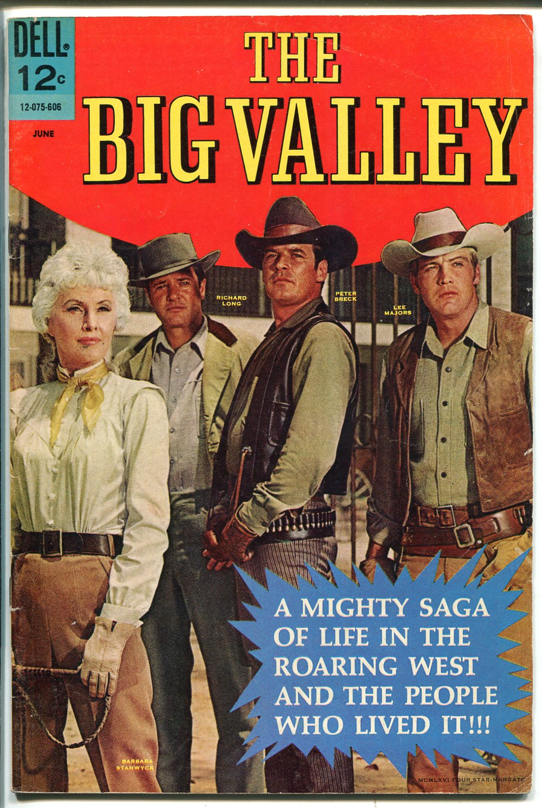 Big Valley #1 1966-Dell-Barbara Stanwyck-Lee Majors-Peter Breck-1st issue-VF- As New