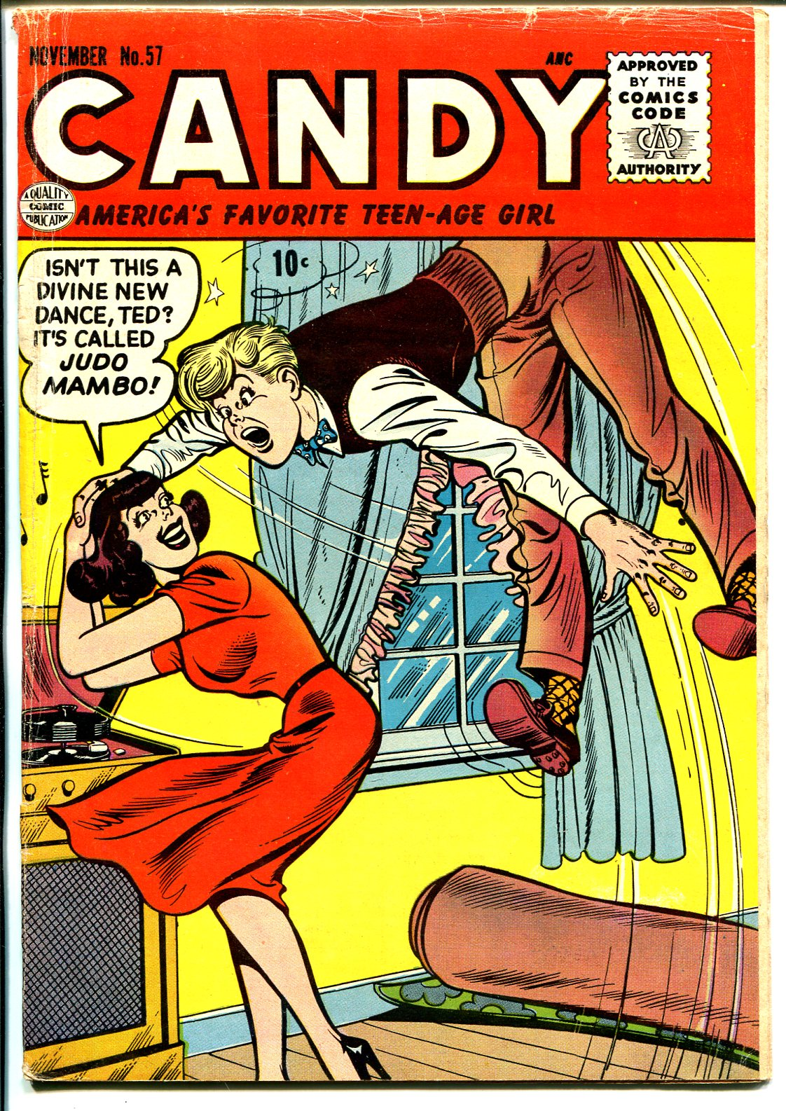 Candy #57 1955-Quality-Spicy Good Girl Art-record player cover-VG Very Good