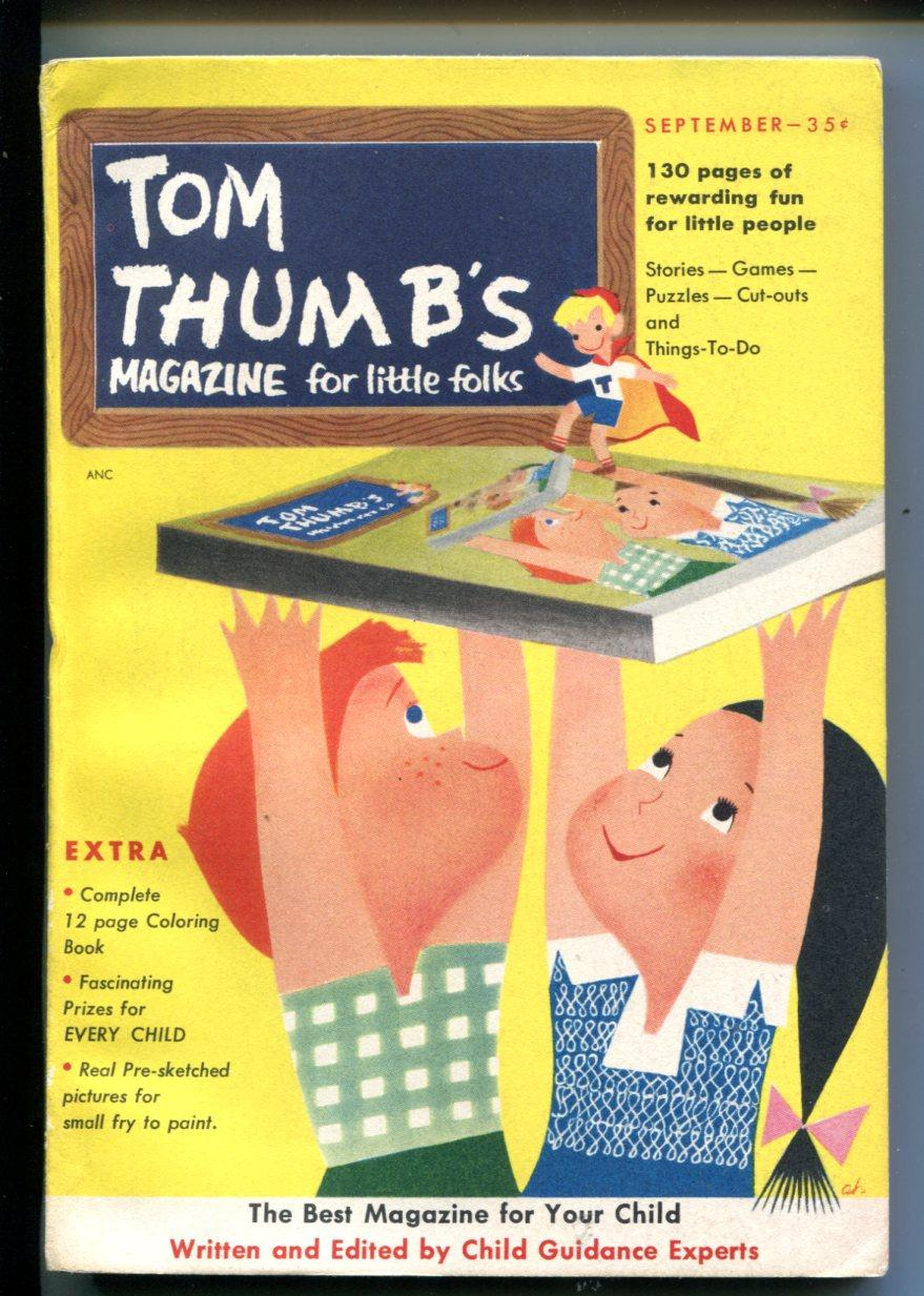 TOM THUMB'S #1-09/1953-COMICS-PUZZLES-FUNNY ANIMALS-SOUTHERN STATES-vf As New