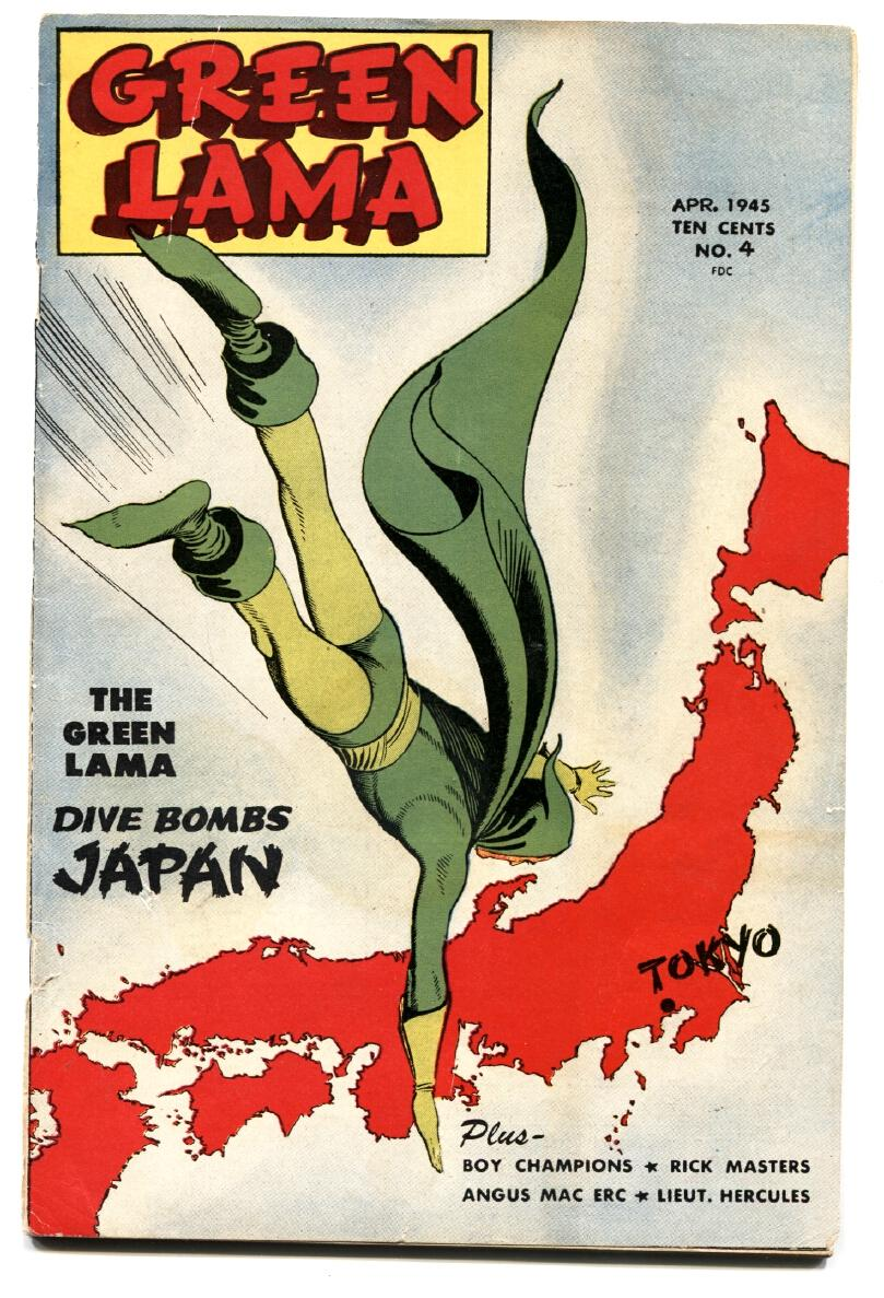 GREEN LAMA #3 comic book-1945-SPARK-WWII-MAC